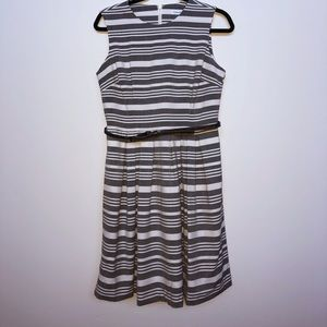 Calvin Klein striped fit and flare dress size 8